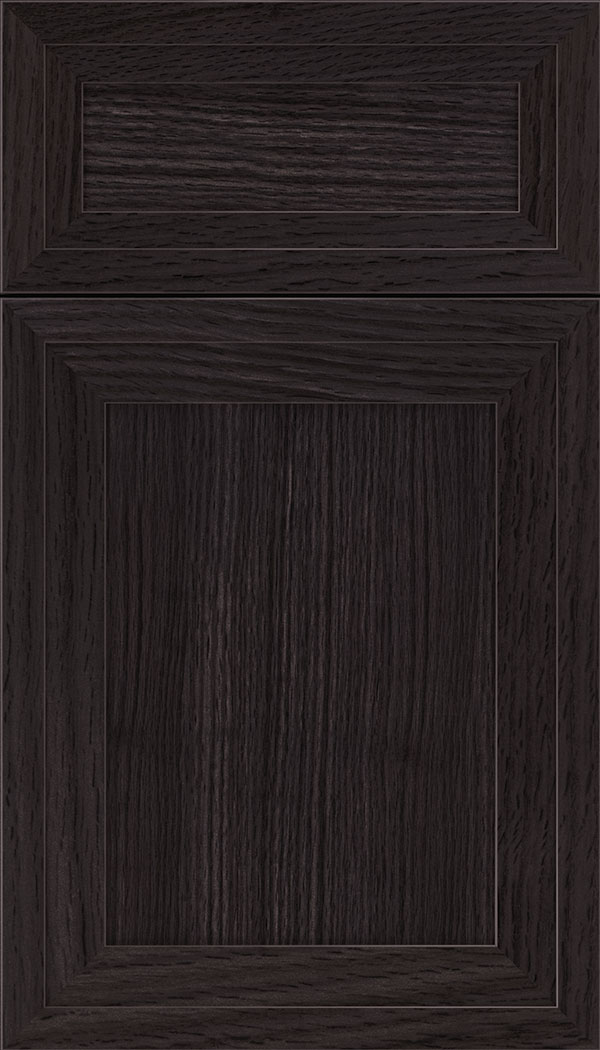 Asher 5pc Rift Oak flat panel cabinet door in Espresso