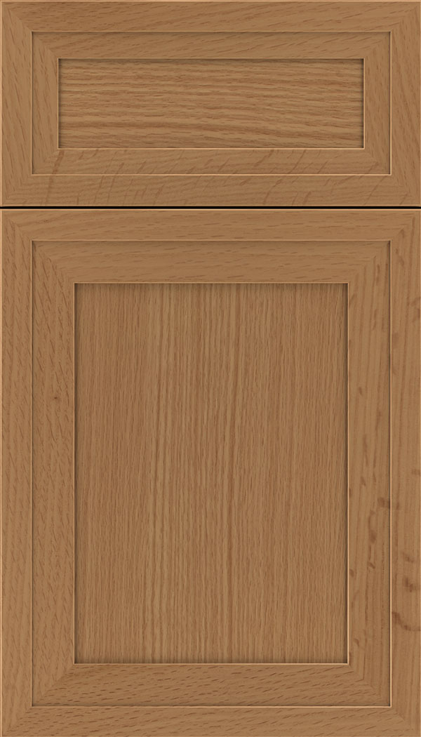 Asher 5pc Rift Oak flat panel cabinet door in Ginger