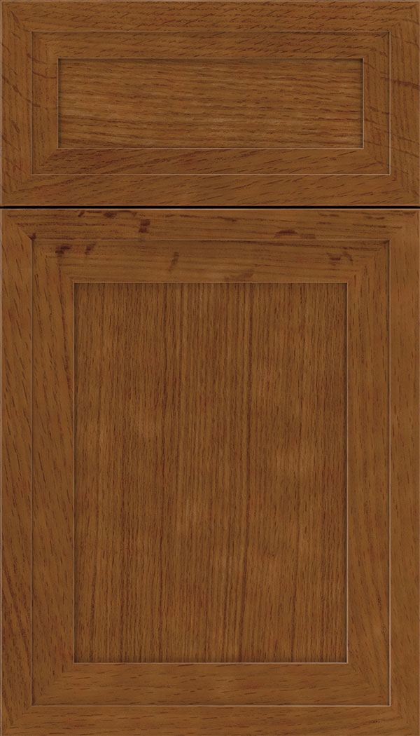 Asher 5pc Rift Oak flat panel cabinet door in Nutmeg