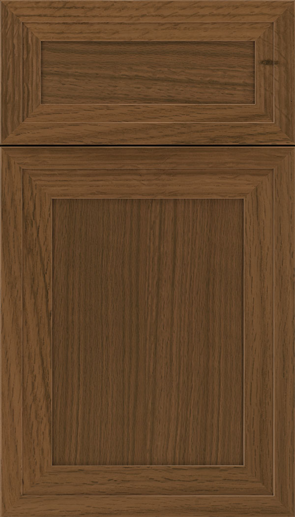 Asher 5pc Rift Oak flat panel cabinet door in Sienna