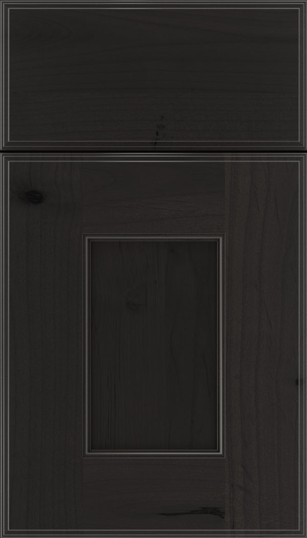 Berkeley Alder flat panel cabinet door in Charcoal