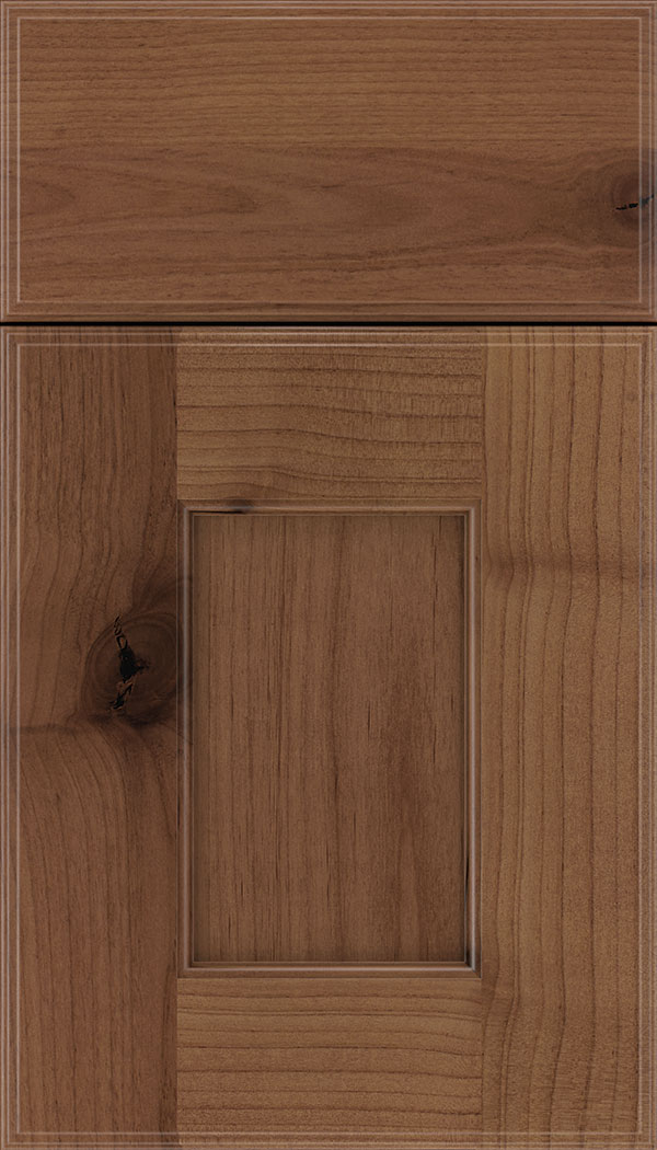Berkeley Alder flat panel cabinet door in Nutmeg