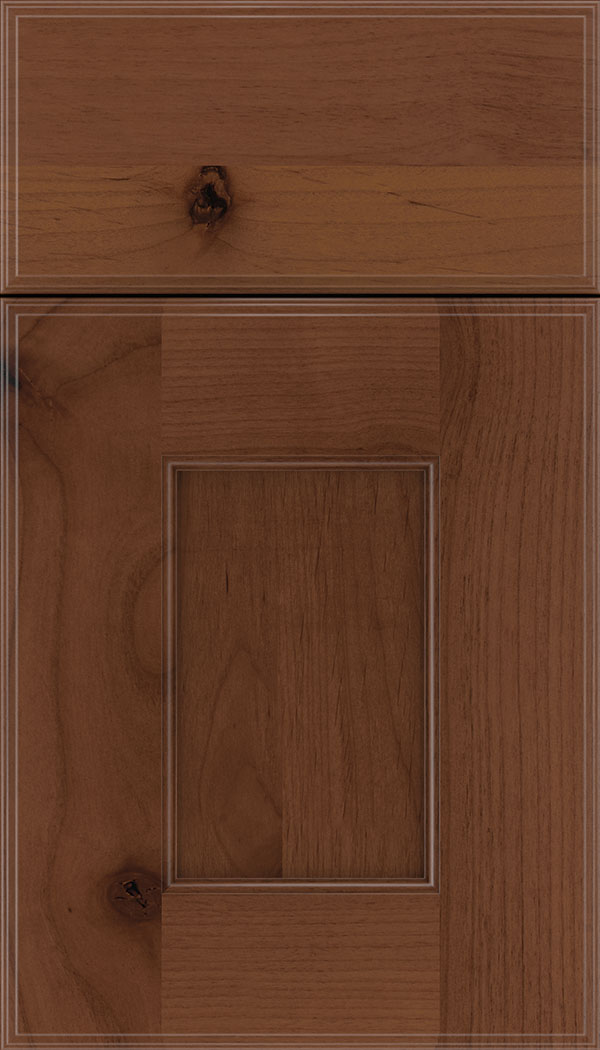 Berkeley Alder flat panel cabinet door in Russet