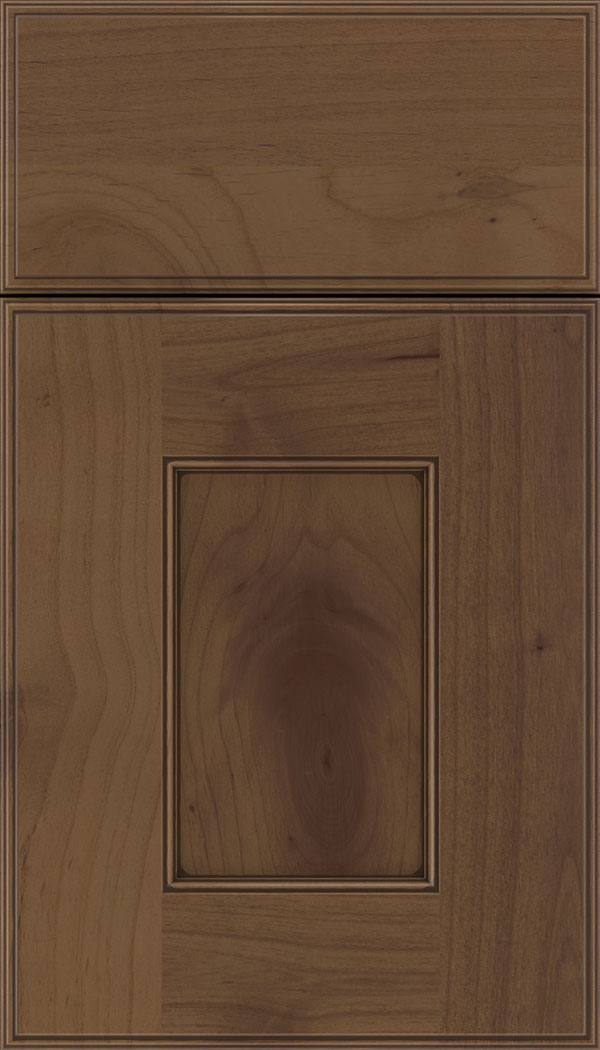 Berkeley Alder flat panel cabinet door in Sienna with Mocha glaze