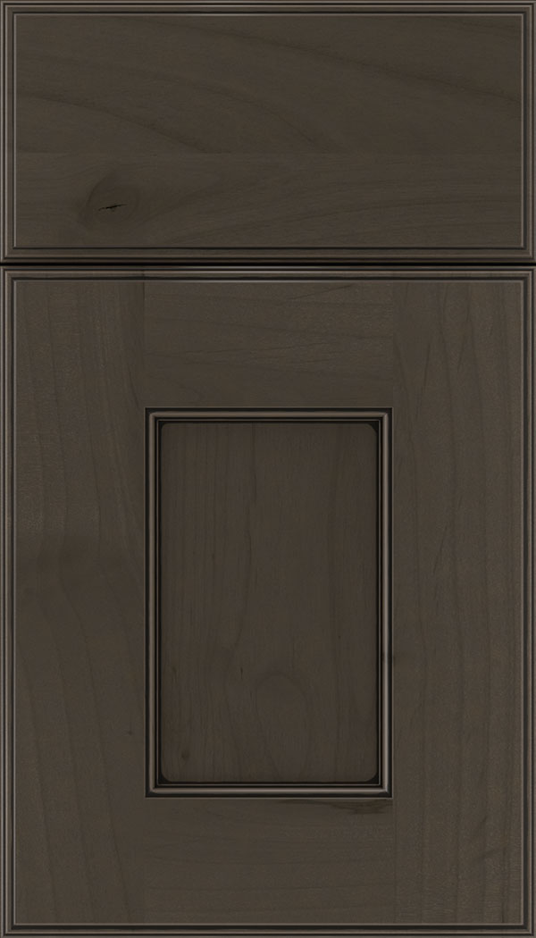 Berkeley Alder flat panel cabinet door in Thunder with Black glaze