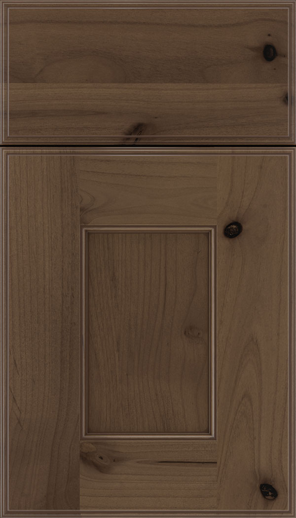 Berkeley Alder flat panel cabinet door in Toffee with Mocha glaze