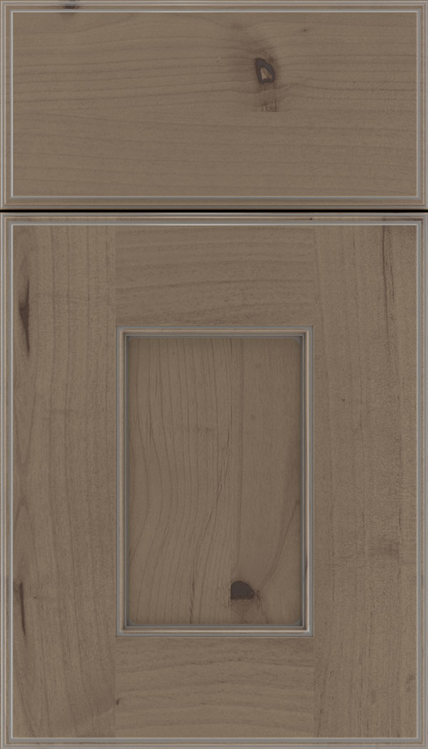 Berkeley Alder flat panel cabinet door in Winter with Pewter glaze