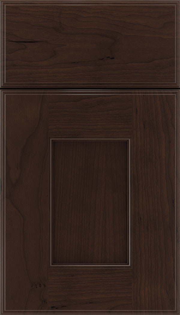 Berkeley Cherry flat panel cabinet door in Cappuccino