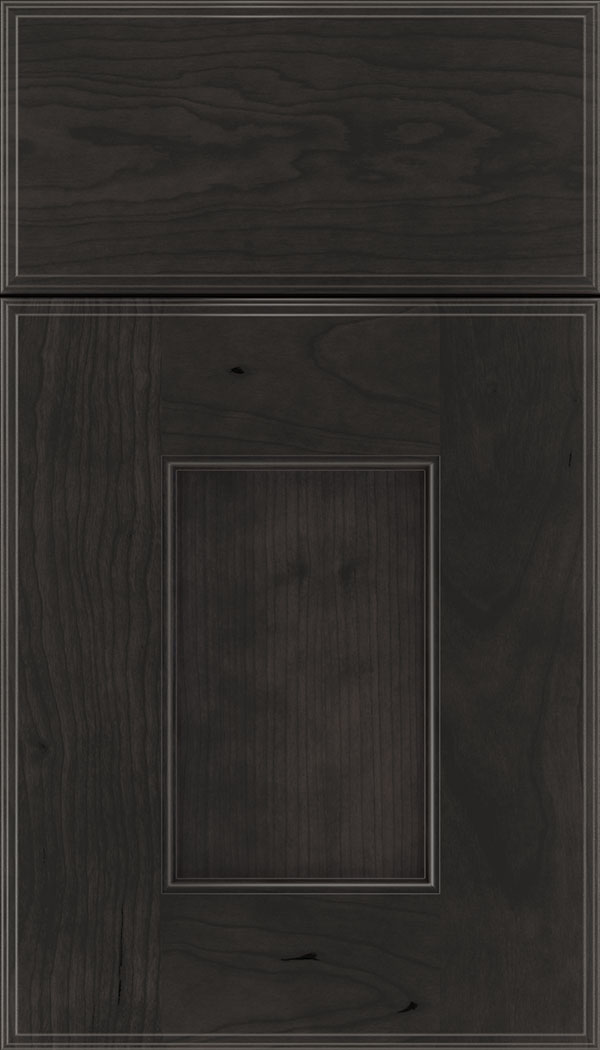 Berkeley Cherry flat panel cabinet door in Charcoal
