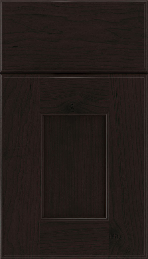 Berkeley Cherry flat panel cabinet door in Espresso