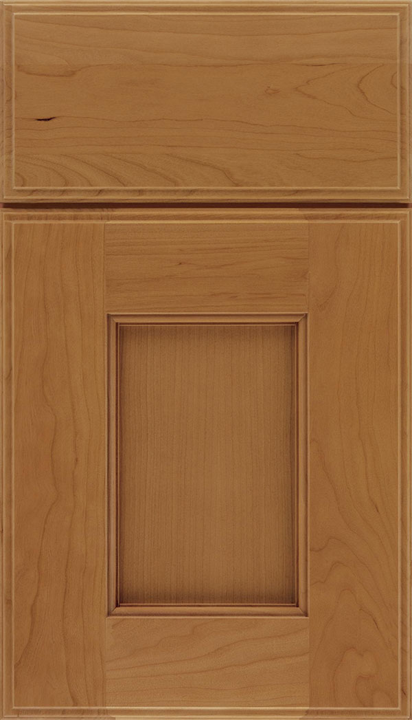 Berkeley Cherry flat panel cabinet door in Ginger