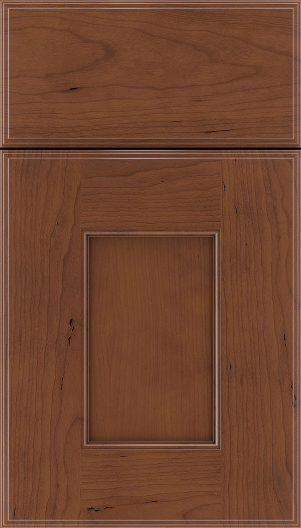 Berkeley Cherry flat panel cabinet door in Russet