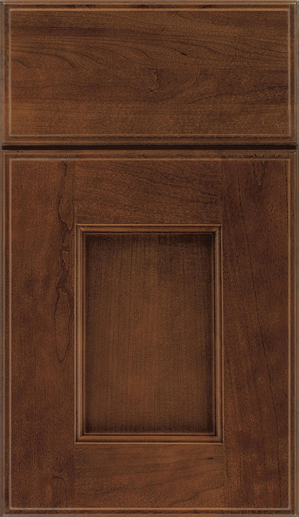 Berkeley Cherry flat panel cabinet door in Sienna