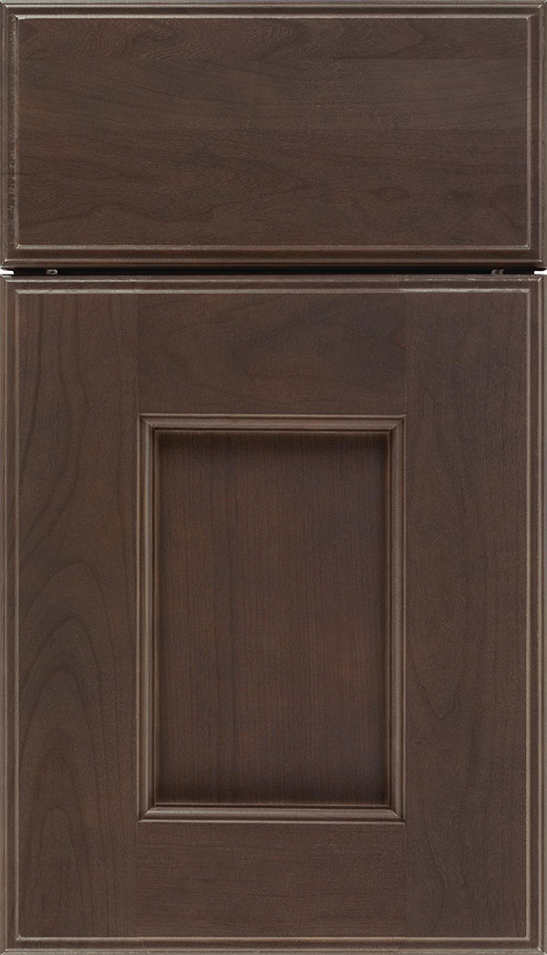 Berkeley Cherry flat panel cabinet door in Thunder