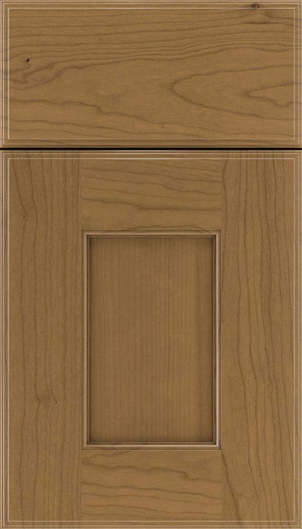 Berkeley Cherry flat panel cabinet door in Tuscan
