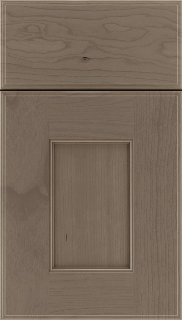Berkeley Cherry flat panel cabinet door in Winter
