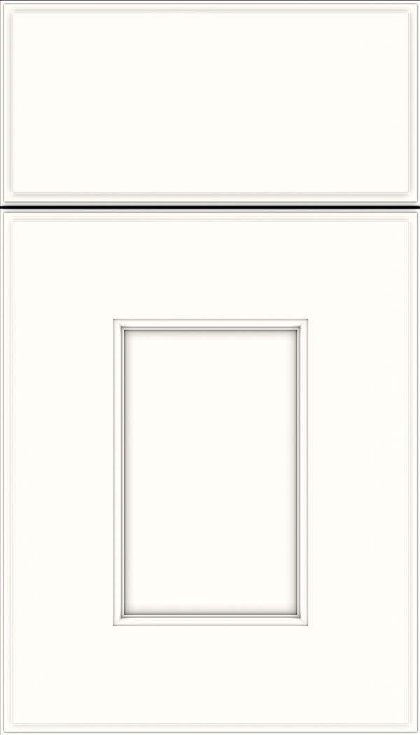Berkeley Maple flat panel cabinet door in Alabaster