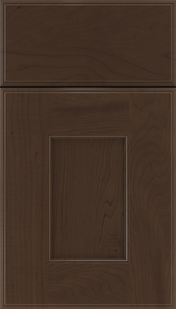 Berkeley Maple flat panel cabinet door in Cappuccino