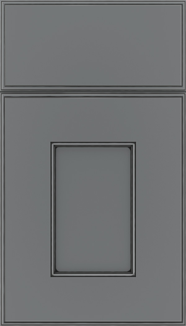 Berkeley Maple flat panel cabinet door in Cloudburst with Black glaze