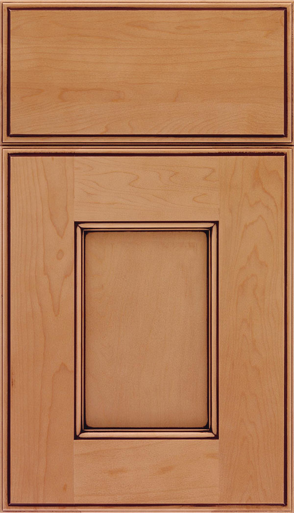 Berkeley Maple Flat Panel Cabinet Door In Ginger With Mocha Glaze Zoom