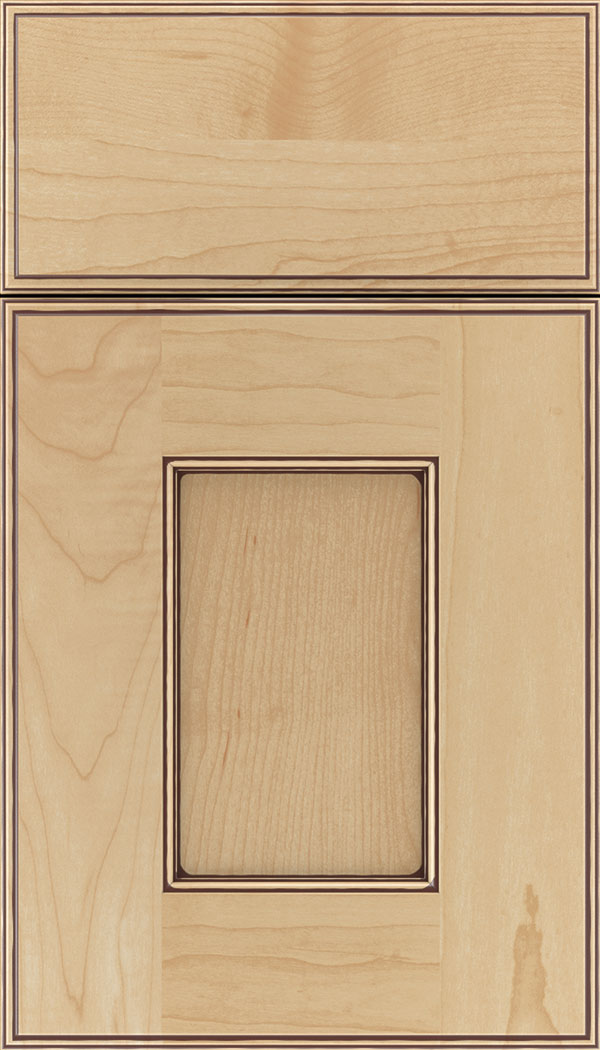 Berkeley Maple flat panel cabinet door in Natural Mocha