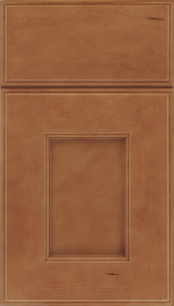 Berkeley Maple flat panel cabinet door in Nutmeg