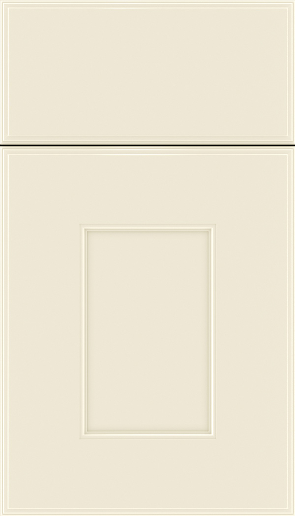 Berkeley Maple flat panel cabinet door in Seashell