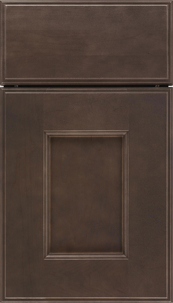 Berkeley Maple flat panel cabinet door in Thunder