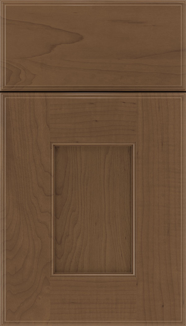 Berkeley Maple flat panel cabinet door in Toffee