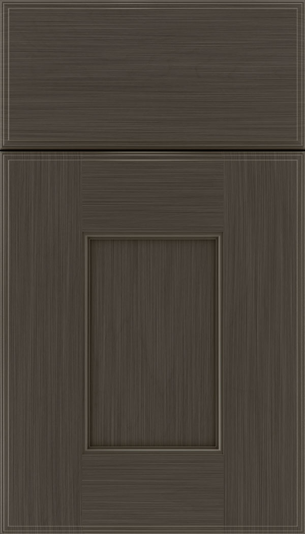 Berkeley Maple flat panel cabinet door in Weathered Slate