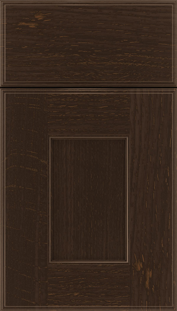 Berkeley Rift Oak flat panel cabinet door in Cappuccino