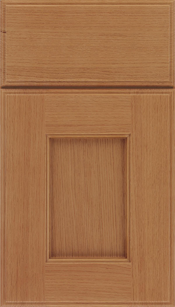 Berkeley Rift Oak flat panel cabinet door in Ginger