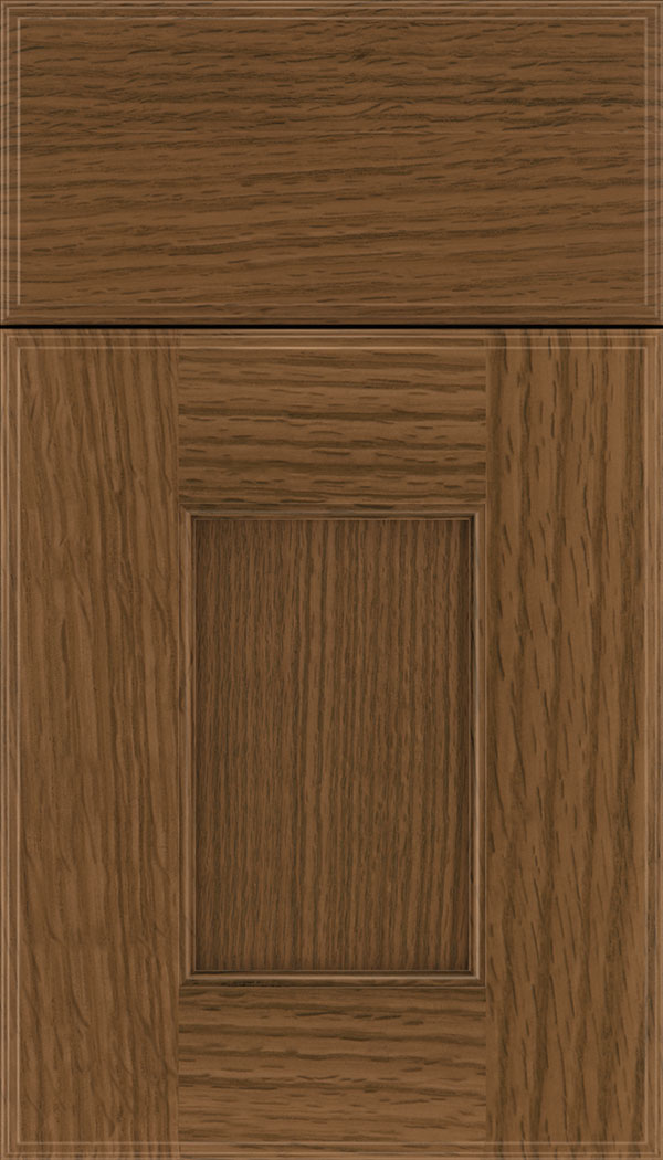 Berkeley Rift Oak flat panel cabinet door in Sienna