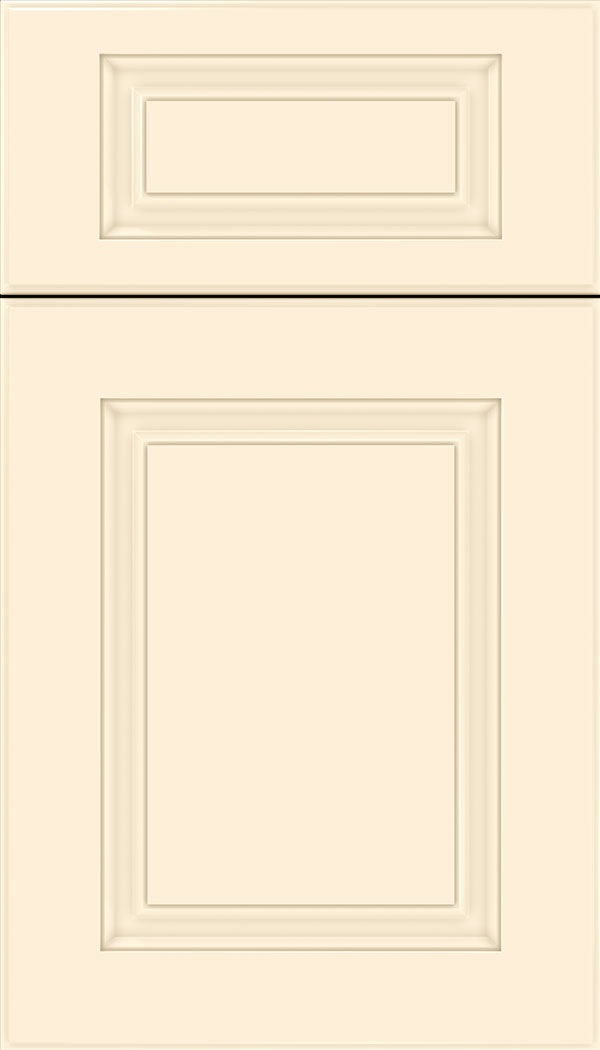 Bristol 5pc Thermofoil cabinet door in Satin Antique