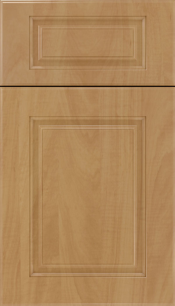Bristol 5pc Thermofoil cabinet door in Woodgrain Chardonnay