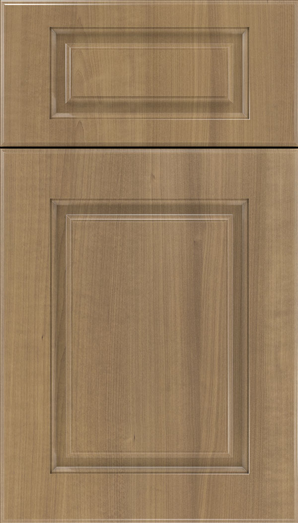 Bristol 5pc Thermofoil cabinet door in Woodgrain Satinwood