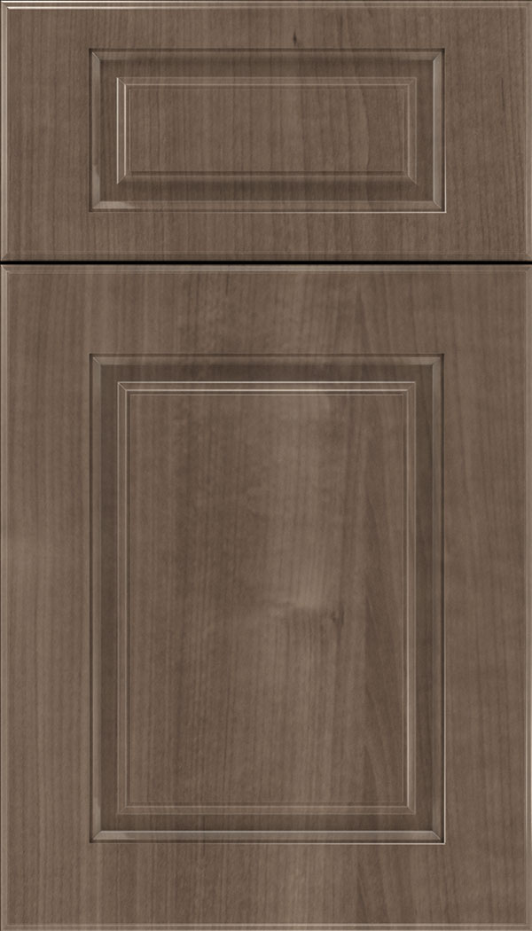 Bristol 5pc Thermofoil cabinet door in Woodgrain Warm Walnut