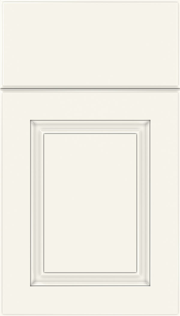 Bristol Thermofoil cabinet door in Satin White