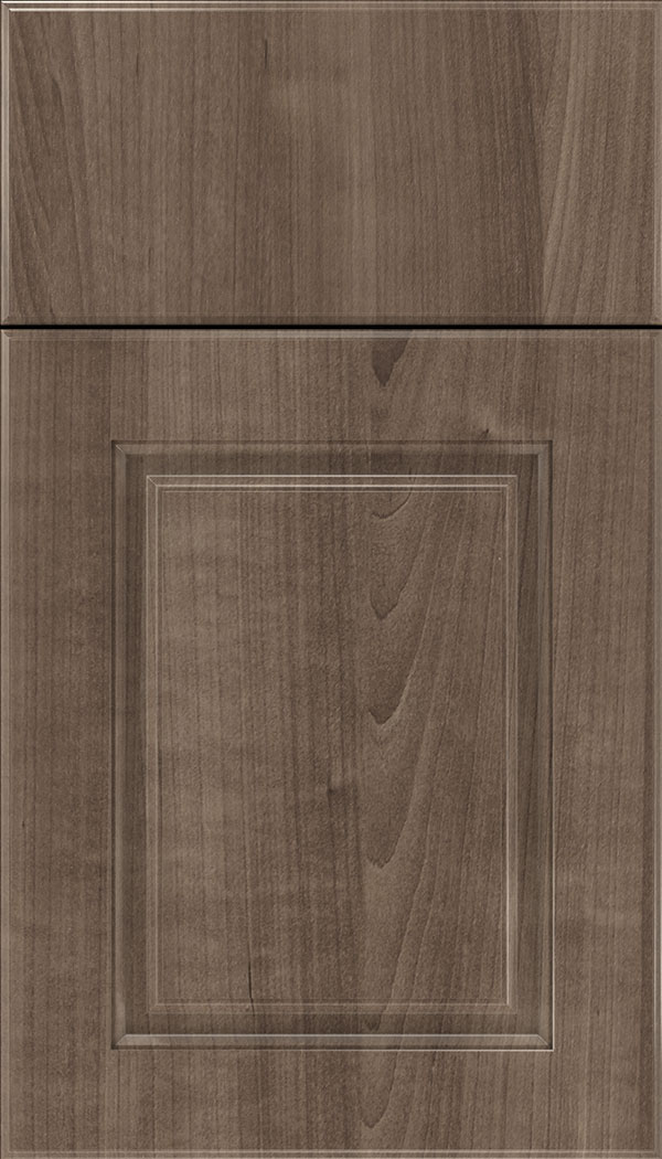 Bristol Thermofoil cabinet door in Warm Walnut