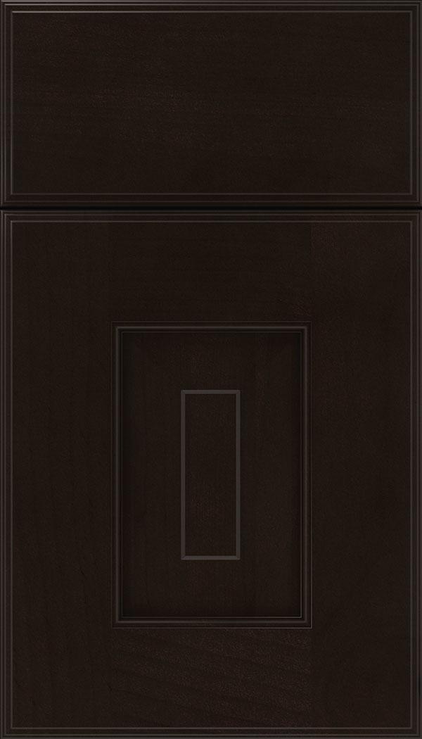 Brookfield Alder raised panel cabinet door in Espresso