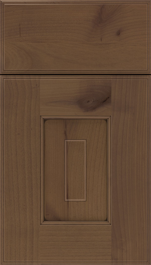 Brookfield Alder raised panel cabinet door in Sienna with Mocha glaze