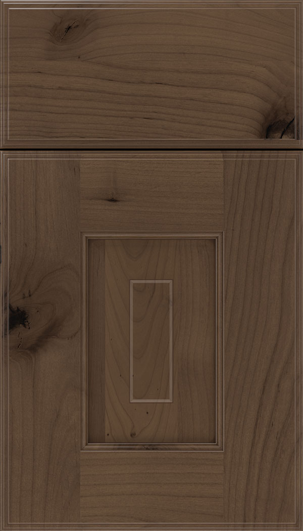 Brookfield Alder raised panel cabinet door in Toffee with Mocha glaze
