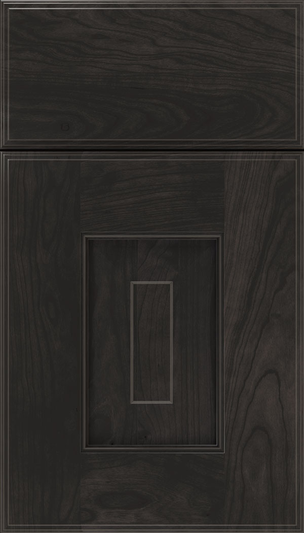 Brookfield Cherry raised panel cabinet door in Charcoal