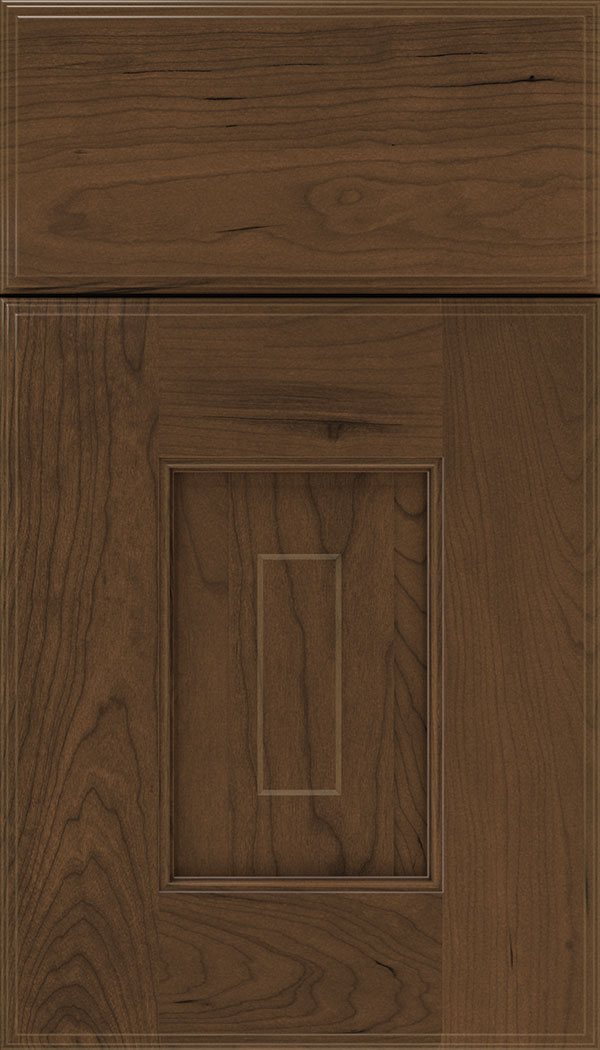 Brookfield Cherry raised panel cabinet door in Sienna
