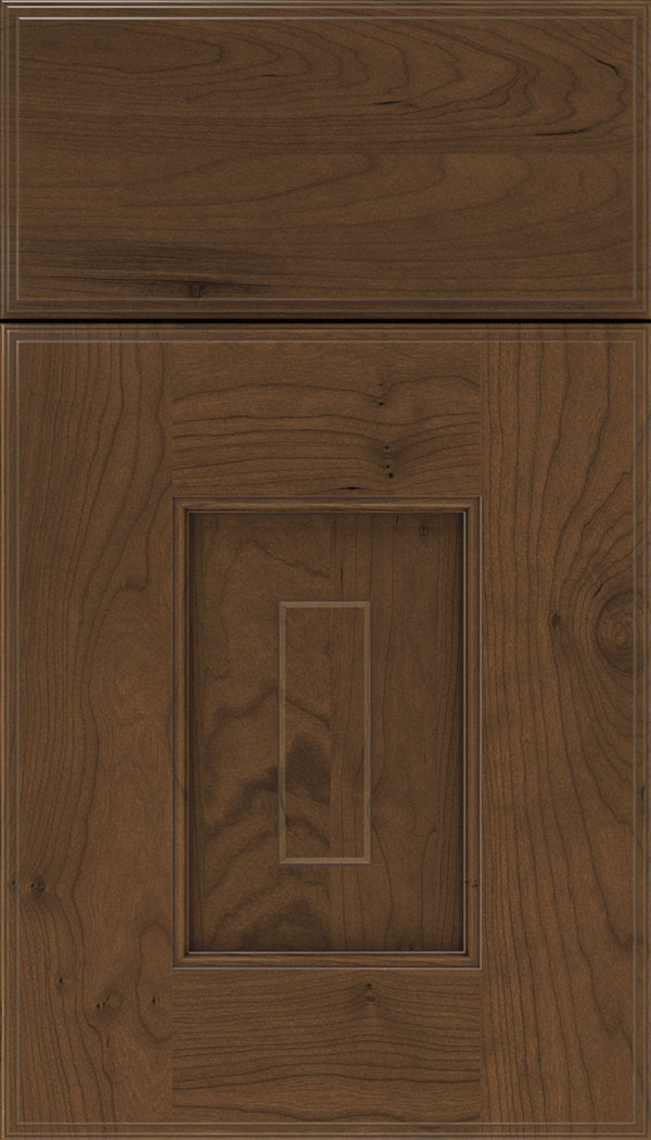 Brookfield Cherry raised panel cabinet door in Sienna with Mocha glaze