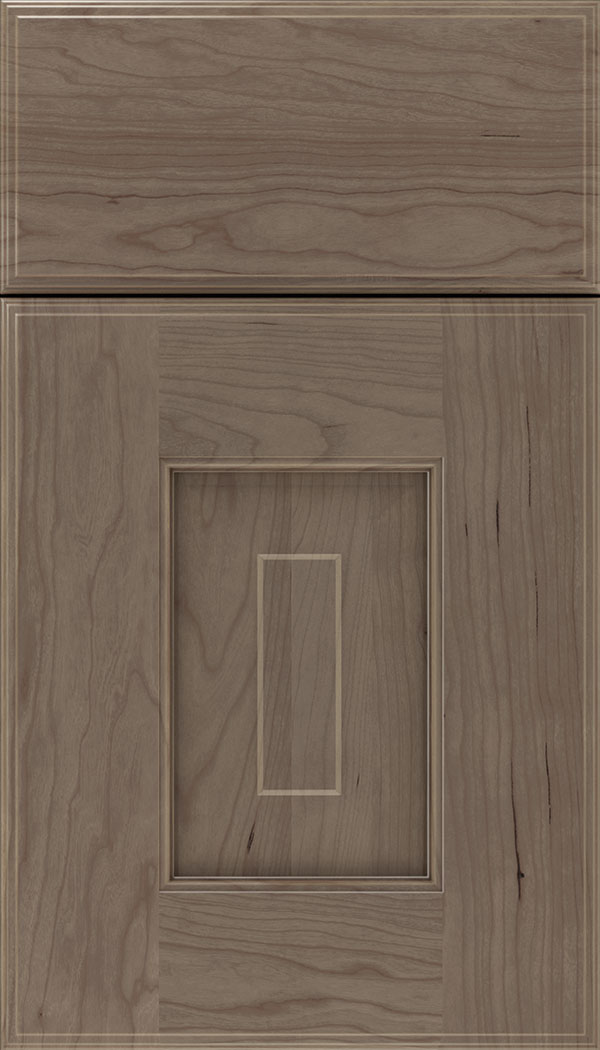 Brookfield Cherry raised panel cabinet door in Winter