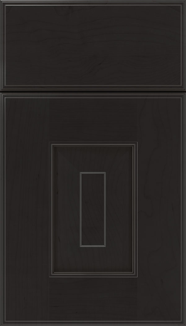 Brookfield Maple raised panel cabinet door in Charcoal