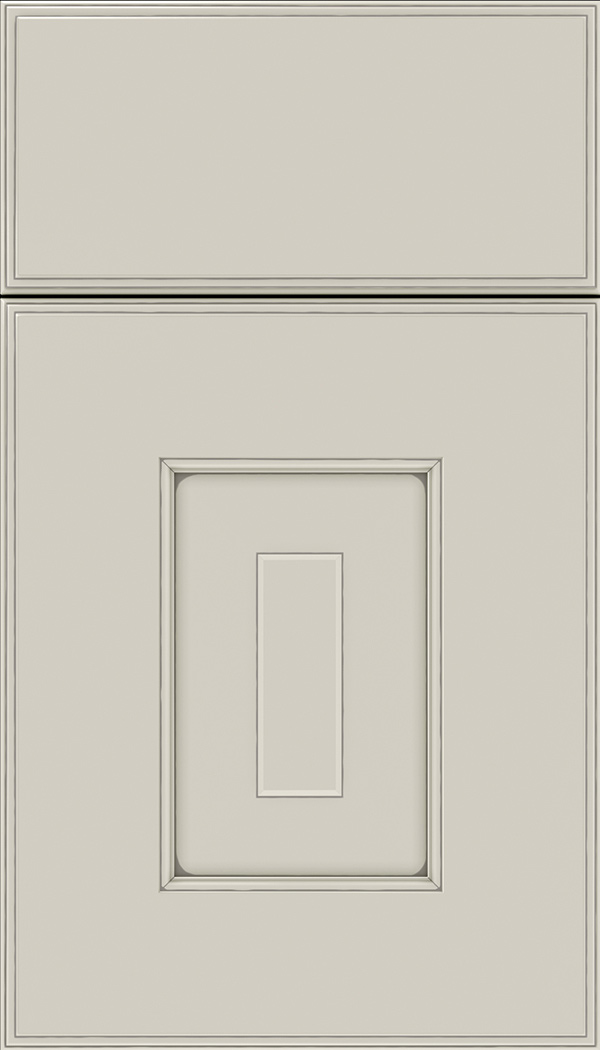 Brookfield Maple raised panel cabinet door in Cirrus with Pewter glaze