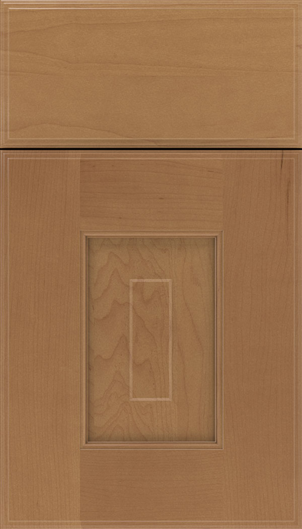 Brookfield Maple raised panel cabinet door in Nutmeg