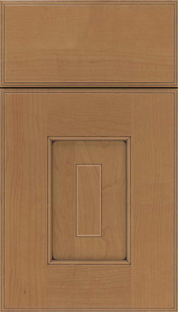 Brookfield Maple raised panel cabinet door in Nutmeg with Mocha glaze